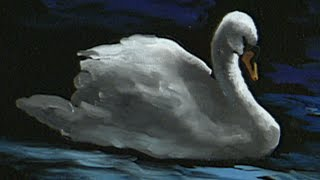 "getlinkyoutube.com-The Beauty of Oil Painting, Series 1, Episode 11, ""Swan at Lithia Park"""