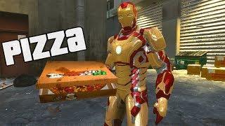 getlinkyoutube.com-Homem de Ferro Entregador de Pizza