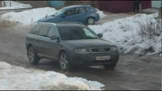 getlinkyoutube.com-ТЕСТ ДРАЙВ Audi Allroad (2.7) и Subaru Impreza(1.6)