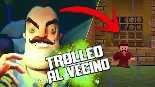 getlinkyoutube.com-TROLLEO AL VECINO | HELLO NEIGHBOR EN MINECRAFT