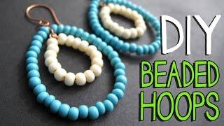 getlinkyoutube.com-DIY Beaded Wire Hoop Earrings Tutorial - Jewelry Making Tutorial