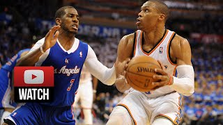 getlinkyoutube.com-Chris Paul vs Russell Westbrook Full Duel Highlights 2014 West Semis G1 - Clippers at Thunder