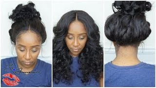 getlinkyoutube.com-360 LACE FRONTAL WIG INSTALL | START TO FINISH TUTORIAL | COMINGBUY.COM