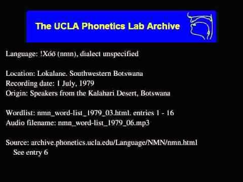 !Xóõ audio: nmn_word-list_1979_06
