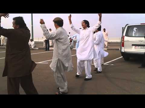 Pakhton dance in jabal e hafeet .uae