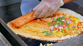 getlinkyoutube.com-New York Street Food - INDIAN MASALA DOSA and Young Coconut Water