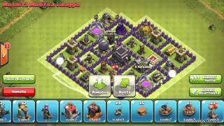 getlinkyoutube.com-Villaggio municipio livello 7 Clash Of Clans