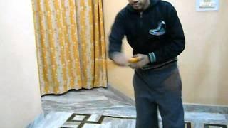 getlinkyoutube.com-Narayan Sharma With Amazing Nunchaku on Chakde Phate in mmu mullana