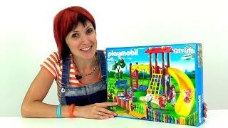 getlinkyoutube.com-Конструктор Playmobil Toys. Собираем детскую площадку. Набор для сюжетно-ролевых игр. распаковка