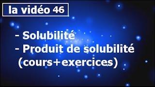 chimie des solutions solubilité et produit de solubilité - partie#46