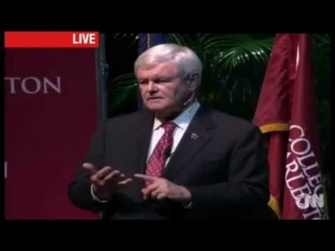 Newt Participates in Tim Scott's Charleston Town Hall