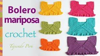 getlinkyoutube.com-Bolero mariposa o torerita para bebitas y niñas tejido a crochet ¡paso a paso!