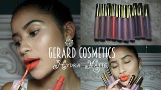 getlinkyoutube.com-Gerard Cosmetics Hydra Matte Liquid Lipsticks| Lip Swatches | Natalie Ruiz