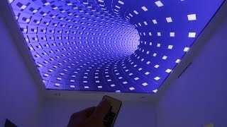 getlinkyoutube.com-3D Infinity Ceiling Stretch Ceiling 3D illusion Effect on Stretch Ceiling by elektric-junkys