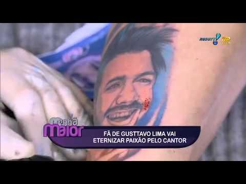 Manhã Maior: Fã de Gusttavo Lima tatua rosto de cantor no corpo