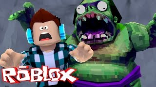 getlinkyoutube.com-Roblox - FUJA DO ZUMBI GIGANTE !! (Roblox Escape Zombie)