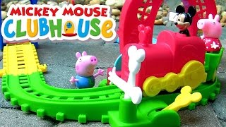 getlinkyoutube.com-Funtoys Disney Baby Mickey Mouse Clubhouse Mouska Train Express with Peppa Pig by Funtoyscollector