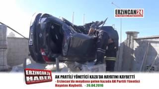 AK Parti Gençlik Kolları Yöneticisi Feci Kazada Öldü