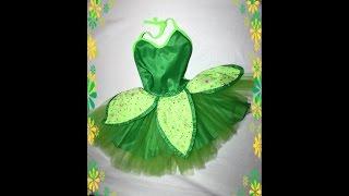 getlinkyoutube.com-HOW TO Tinkerbell costume easy ! disfraz de campanita Facil