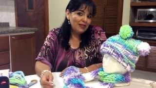 getlinkyoutube.com-Juego de Gorro y Bufanda - Tejido en crochet - Tejiendo con Laura Cepeda