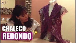 getlinkyoutube.com-Chaleco redondo - Tejiendo con Laura Cepeda