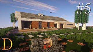 MINECRAFT PORADNIK - Jak zbudować: Nowoczesny dom parterowy [#5]