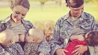 getlinkyoutube.com-Military Moms Breast Feeding in Public Disgracing the Uniform?