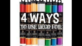 getlinkyoutube.com-Deco Foil - How To Use WITHOUT A Foil Machine