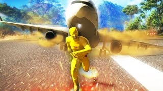 getlinkyoutube.com-FLASH VS A PLANE (JUST CAUSE 2 CHALLENGES & MODS)