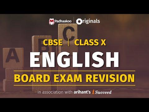 CBSE Exams 2020   English Revision   Class 10