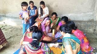 हळदी दळताना च गाणं ( halad song ) maharashtrian traditional pre marriage ceremony - (halad dalane). width=
