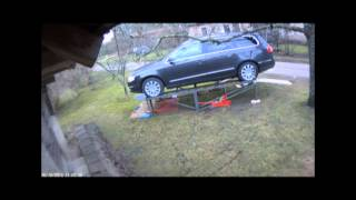 getlinkyoutube.com-Homemade car lift ramp