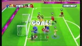 getlinkyoutube.com-Mario & Sonic At The London 2012 Olympics - Football (Soccer) Event