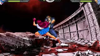getlinkyoutube.com-Random Fight: [MUGEN] Athena And Gliz Vs Kaede And Shingo