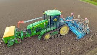 getlinkyoutube.com-John Deere 8345RT / 7280R / 8330R / Fendt 936 vario - Ploughing & drilling wheat - Van der Eijk