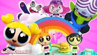 getlinkyoutube.com-Powerpuff Girls Toy Video: Story Maker System ToysReview + Bubbles Blossom Buttercup + Mojo Jojo