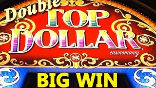 getlinkyoutube.com-Double TOP Dollar - (All X2 Features!) HIGH DENOM. - BIG WIN! - Slot Machine Bonus