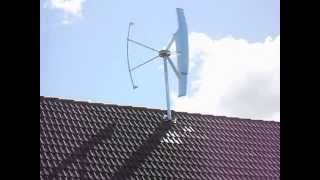 getlinkyoutube.com-SkyLine Sl10 - 1kW Windkraftanlage Darrieus H-Rotor