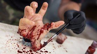 getlinkyoutube.com-How To Make a Gory Hand Prop for Halloween!