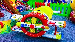 getlinkyoutube.com-KIDS FUN CENTER entertainment center for kids from Nastushik maze inflatable slides, carousel