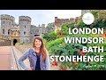London, Windsor, Bath & Stonehenge • England | Travel Vlog