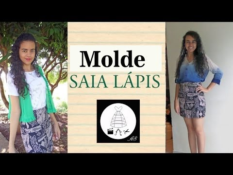 Molde Saia Lápis por Alana Santos Blogger