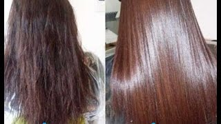 getlinkyoutube.com-DIY How to Get Smooth,Silky hair at Home -Get Thick Hair and Prevent Hair Loss
