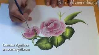 getlinkyoutube.com-Curso pintura muticarga , pintar rosas , Painting roses