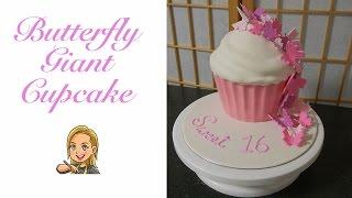 getlinkyoutube.com-Butterfly Giant Cupcake