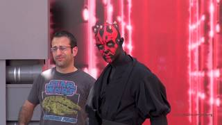 getlinkyoutube.com-Darth Maul Meet-and-Greet Star Wars Weekends Disney's Hollywood Studios Walt Disney World