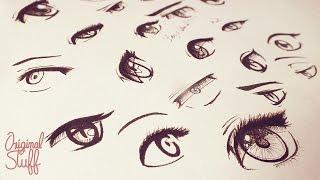 getlinkyoutube.com-¿Cómo dibujar Ojos tipo Manga/Anime? - Original Stuff
