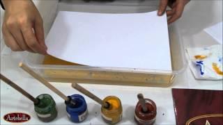 getlinkyoutube.com-Artebella Kolay Ebru Boyaları ile Tek Renk Battal - Tek Renk Tonlama