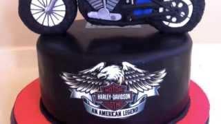 getlinkyoutube.com-Tarta moto Harley Davidson.Paso a paso