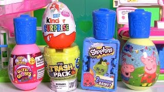getlinkyoutube.com-Shopkins Surprise Basket ♥ Glitzi Globes ♥ Kinder Disney Princess Ariel ♥ Peppa Pig ♥ Furby Boom!